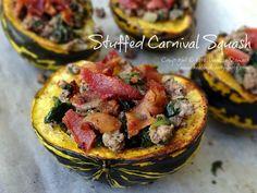 #Healthy Recipe: Stuffed Carnival Squash #lowcarb #paleo #primal