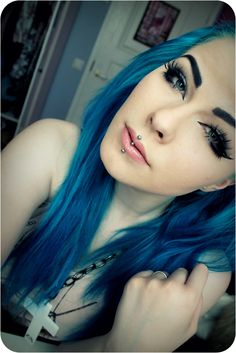 #long #crazy #blue #hair #colour #colours #colors #color