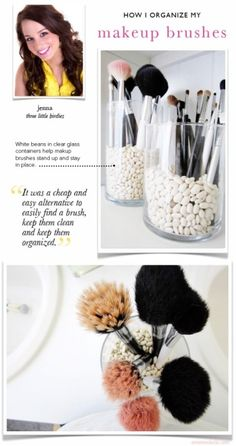 idea, skin care, makeup brush, glasses, coffee beans, organizations, bathrooms, bathroom organization, brushes