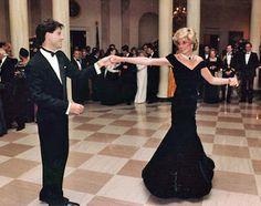 John Travolta with Princess Diana on the dance floor.