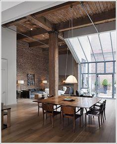 Fabulous open loft space- design by Steven Volpe.