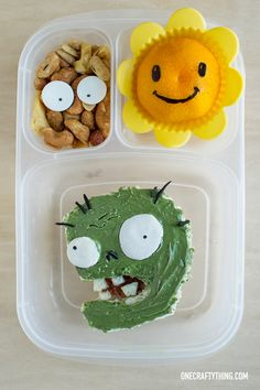 Plants vs Zombies Bento   OneCraftyThing.com - packed in @easylunchboxes