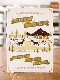 Woodland Wedding Invitations by Anna Hurley