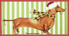 MLT226    13 mesh  (13x17)   Dachshund   © Mary Lake-Thompson for Melissa Shirley Designs