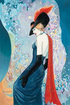 Helen Lam | chino-canadiense nacido Art Déco pintor