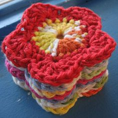 free Crochet flower applique patterns