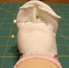 Sew in Peace: Ideas to Make Your Own Doll Clothes Dollar store infant socks