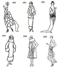 Fashion Silhouettes 20s