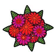 flowers floor plan clip art