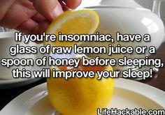 idea, lemons, drink, glass, healthi food, sleep, insomnia, life hack lemon juice, honey