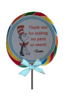 dr seuss cat in the hat party favors
