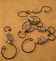 Beaded ornament hooks