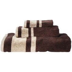 Room Essentials® Stripe Bath Towel Set - Brown : Target/$10.00 per three piece set
