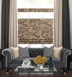 Combine traditional patterns with modern touches for a complete look in your home. Customize your Roman Shade to fit your style and be the designer of your home.
