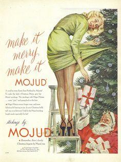 vintage lingerie stocking ad