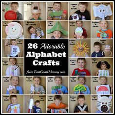 East Coast Mommy: Alphabet Crafts - A to Z
