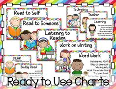 Ready to Use Charts for Literacy Stations