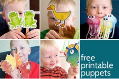 Printable Puppets - 7 different sets of free printable puppets from picklebums.com