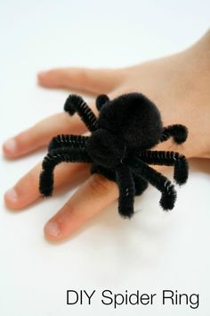 DIY Spider Ring for Halloween
