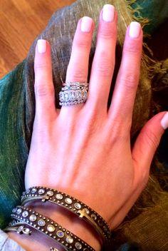 stackable rings emily maynard, stackabl engag, engagements, ring idea, emily maynard engagement ring, jewelri, engag ring, emili maynard, stackable engagement rings