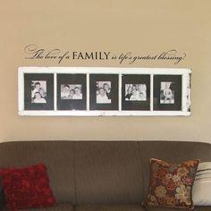 The love of a family  wall words vinyl by OldBarnRescueCompany, $18.00