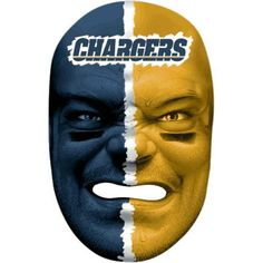 Franklin Sports 6991F27 NFL San Diego Chargers Fan Face Mask