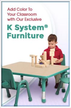Add a splash of color to your classroom with our K System Furniture!