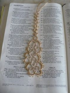 Tatted Lace Bookmark by LoveCraftingForYou on Etsy, $5.00