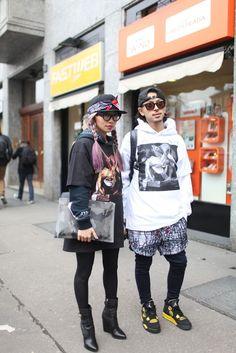 Tokyo Streetstyle at Milan Fashion Week.