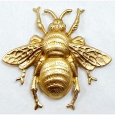 Brass Bee Bee Stampings Vintage Style Raw Brass 39 x 42mm