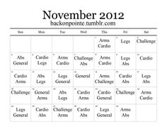 Back On Pointe, Here we go again! New month, new workout...