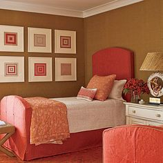 Guest room with great colors