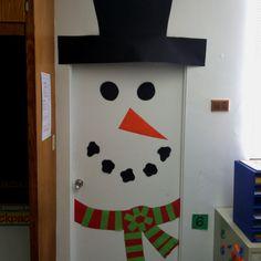 Snowman door 2