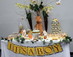 Jungle Baby Shower Sweet Table