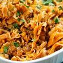 Enchilada Pasta Casserole - Table for Two
