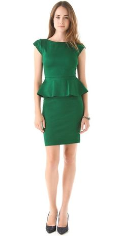 """Looking pretty in Peplum! Love this """"Deep Forest"""" color!"""