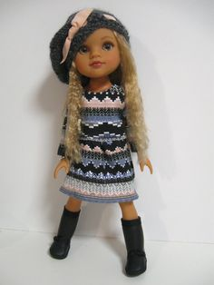 Hearts 4 Hearts Doll Clothes Pretty Print by 123MULBERRYSTREET