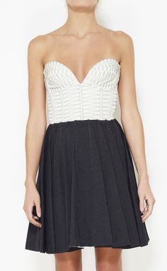 Brian Reyes Charcoal And Cream Dress