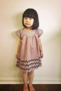 Faon Zigzag Dress (2C) #designer #kids #fashion