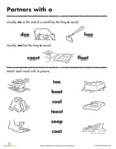 Worksheets: Long o Words