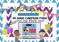 60 pg. SMARTBoard Morning Math with Calendar and Attendance from 1 2 3 Interactive Classro on TeachersNotebook.com -  (60 pages)  - Your students will love this 60 page colorful daily math. This interactive SmartBoard morning calendar math allows your students to review essential math skills every day.