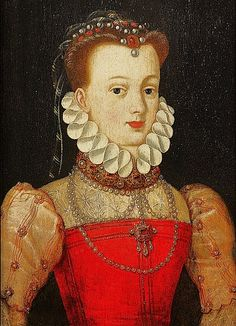 Elisabeth of Austria (1554–1592) Queen of France attr François Clouet (1515–1572)
