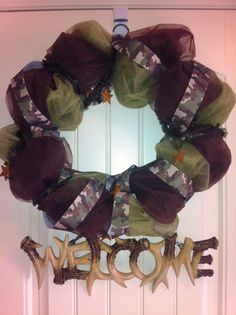 Camo Hunting Themed Wreath by DesignsByDaniC on Etsy, $45.00