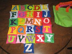 bean bag alphabet
