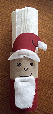 kerstman servethouder