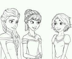 Elsa, Anna and Rapunzel. This would be a good coloring page for your wall!!! @Maria Canavello Mrasek Canavello Mrasek Canavello Mrasek Canavello Mrasek Mayer @Stephanie Close Close Close Close Markfort