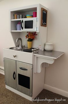 I'm gunna have a little , fully functional, play kitchen for my kids in the kitchen