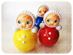 Vintage wobble dolls