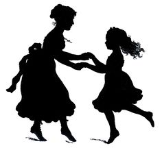 Vector Image Downloads - Mother's Day Silhouette - Graphics Fairy