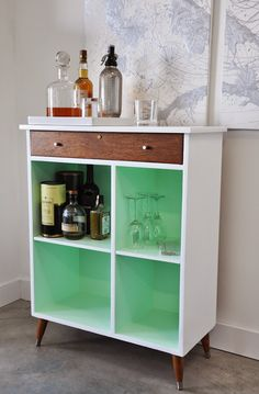 Poppytalk: Before and After | Vintage Cabinet from Shabby to Chic